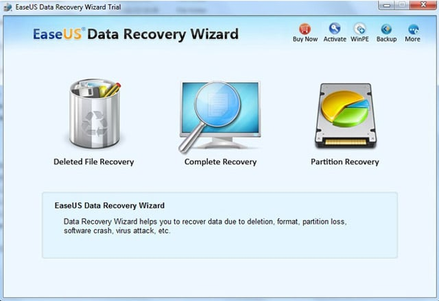 EaseUs DataRecoveryWizard Professional is a complete range of data recovery software for all Windows platforms and supports Undelete, Unformat from various file systems including FAT, FAT16, VFAT, FAT32, NTFS, NTFS5 on various storage media.