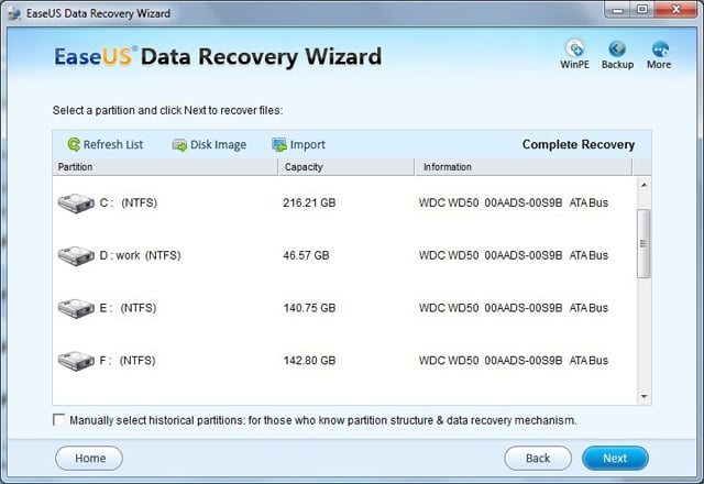 Recovering data after format: step 1