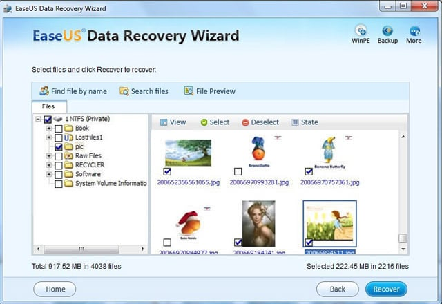 USB external drive recovery software - Preview