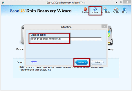 license code for easeus data recovery wizard trial