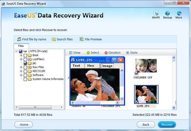 ��� ������ EASEUS Data Recovery Wizard Professional v5.0.1