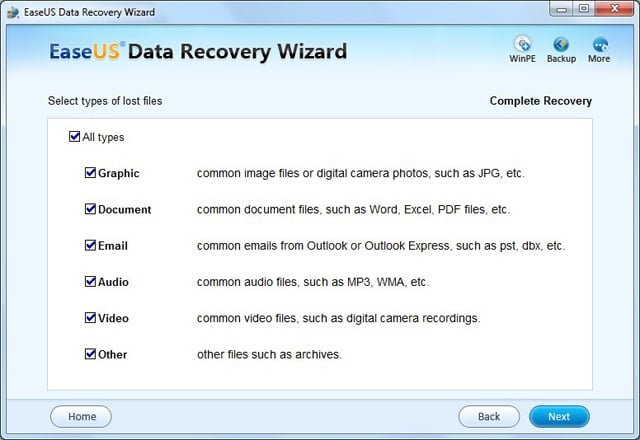 عملاق استرجاع الملفات EASEUS Data Recovery Wizard Professional 5.5.1