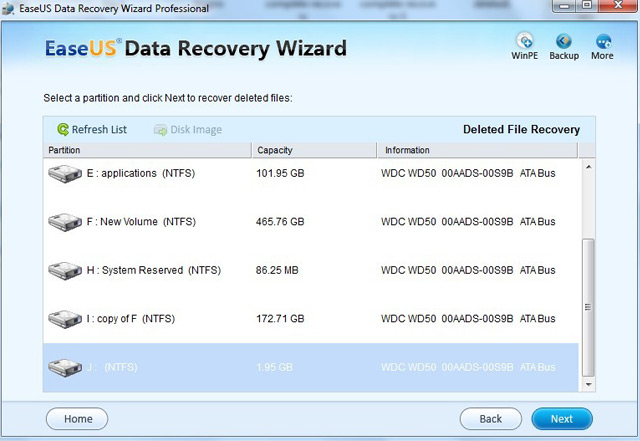 لأستعادة المحذوفات EASEUS Data Recovery Wizard Professiol