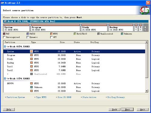 Free high-speed sector to sector disk copy software for hard disk.