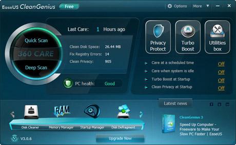 EaseUS CleanGenius Free 3.0.6 full