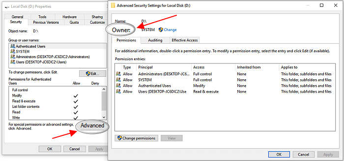 Fix 'You'll need to provide administrator permission to copy files or folder' error.