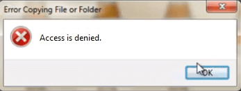 error copying file or folder access is denied