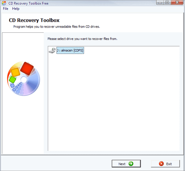 recover cd data using cd recovery toolbox