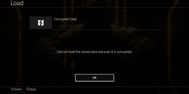 Error - Corrupted database