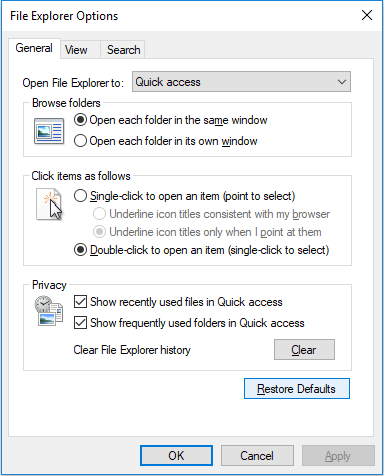 File Explorer wont open in Windows 10