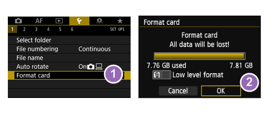 Fix can't format SD card error on Camera
