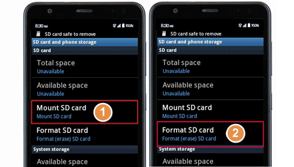 Fix can't format SD card on Android Phone
