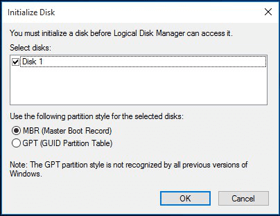 4 Ways to Fix Disk Unknown Not Initialized in Windows 10/8/7
