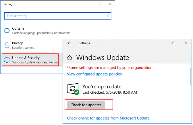 Check Windows update.