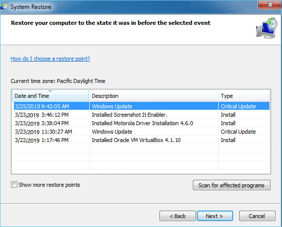 how to factory restore pc windows 7