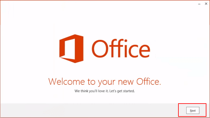 Insall MS Office on new computer.