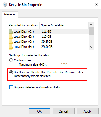 permanently delete files from computer