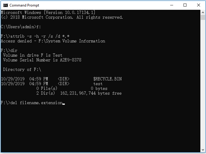 use cmd to remove virus in Windows 10