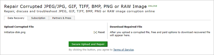 Repair Corrupted PNG Files Online