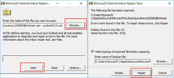 fix Microsoft Outlook has stopped working - way 5