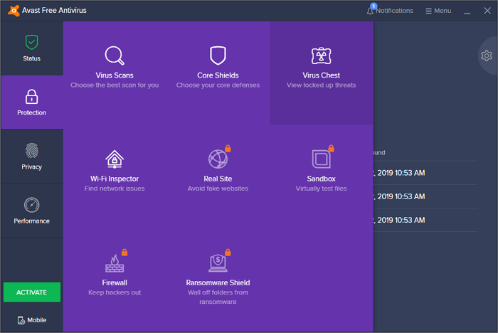 recover data from avast virus chest