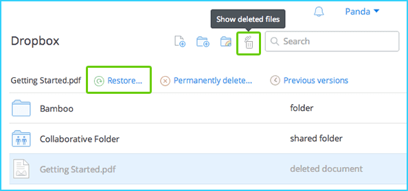 Recover Permanently Deleted Files/Folders from Dropbox - EaseUS