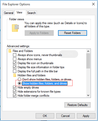 How to Recover Lost/Hidden Users Folder in C Drive - EaseUS