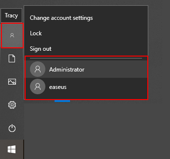 Switch user account to find missing files.