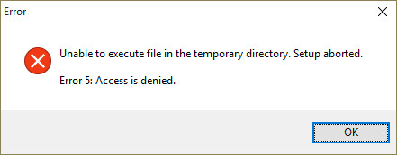 Unable To Execute Files In The Temporary Directory