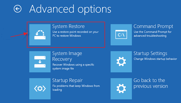 how to do a system recovery on windows 10