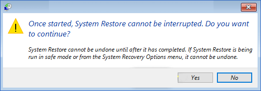 Undo System Restore and bring computer back to the state before it.