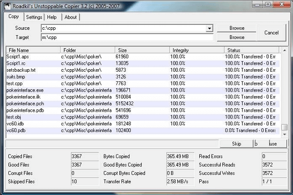 recover cd data using unstoppable copier