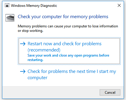 Fix Windows Explorer has stopped working - Run Windows Memory Diagnostics