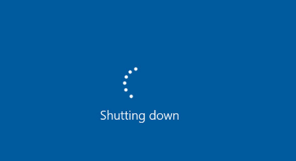 windows 10 will not shu down and restart automatically