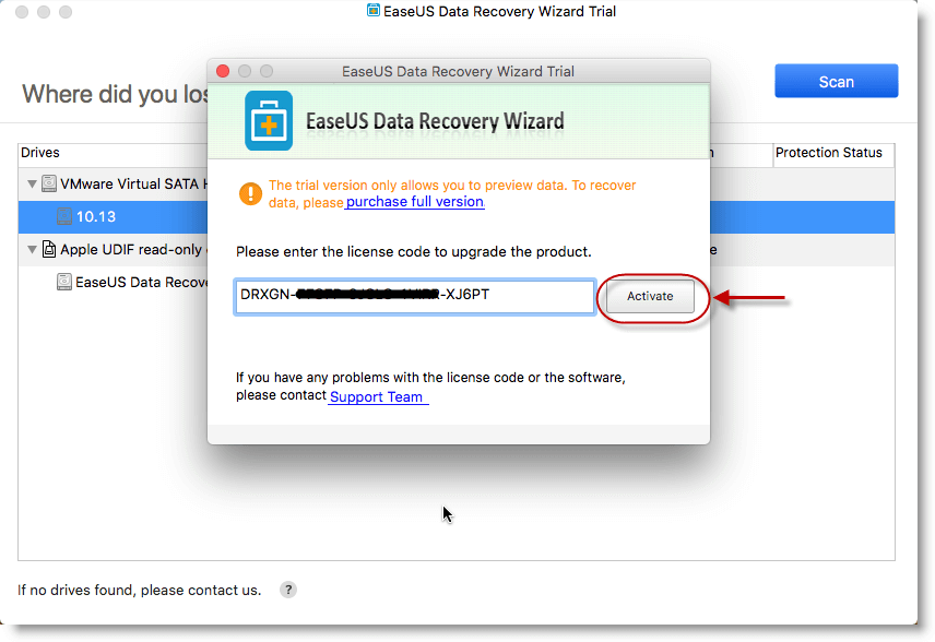 easeus data recovery wizard professional 12.6 license key