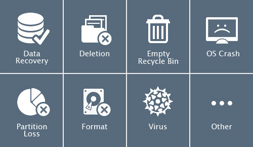 EaseUS free data recovery software offers three recovery modes to recover lost data.