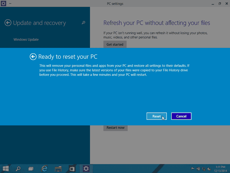 recover files after windows 10 reset