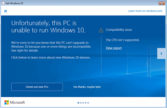 Fixed: CPU Is not Supported or CPU Is not Compatible with Windows 10