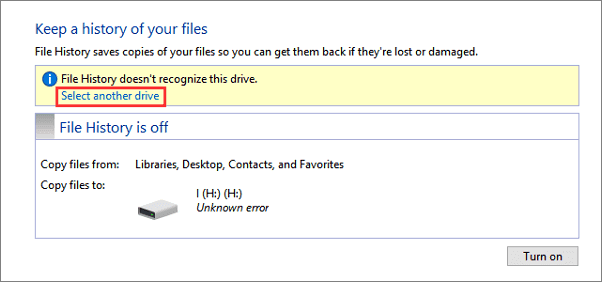 Fix File History not working error in Windows 10.