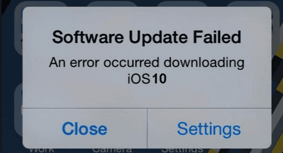 Fix iOS 10 update failure case.