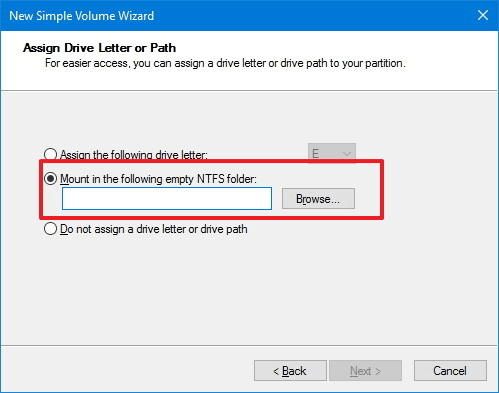 Mount USB in Windows 10 as local folder.