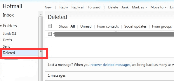 How to retrieve deleted sent emails from yahoo mail