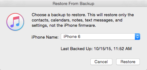 Restore lost contacts/messages after iOS 10 update from iTunes backup.