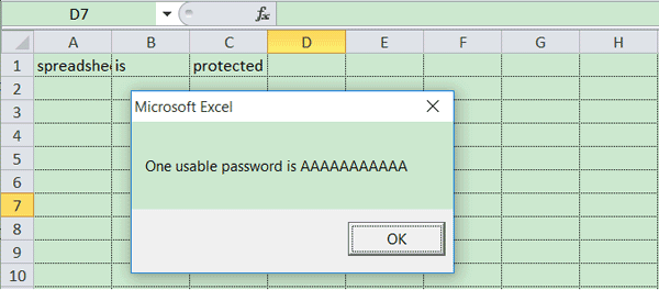 excel vba open password protected file