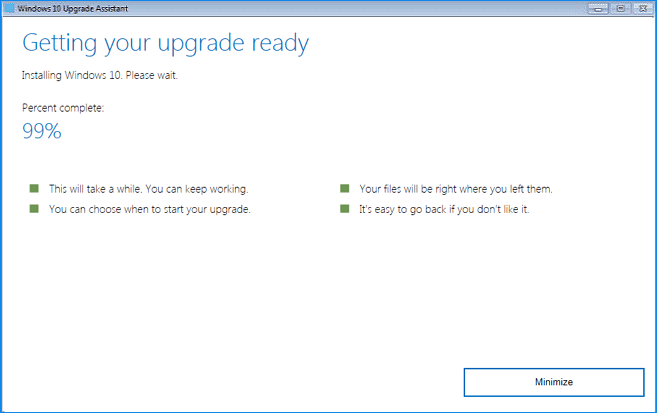 Fixed] Windows 10 Upgrade Assistant Stuck at 99% – EaseUS