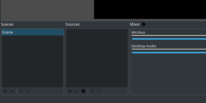 Choose recording sources on OBS