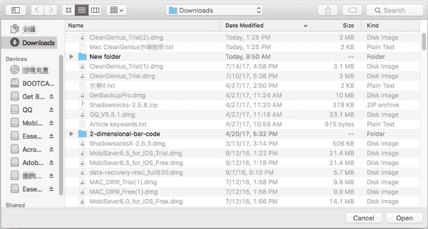 Scan and find duplicate files on Mac