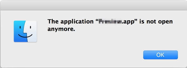 the application is not open anymore