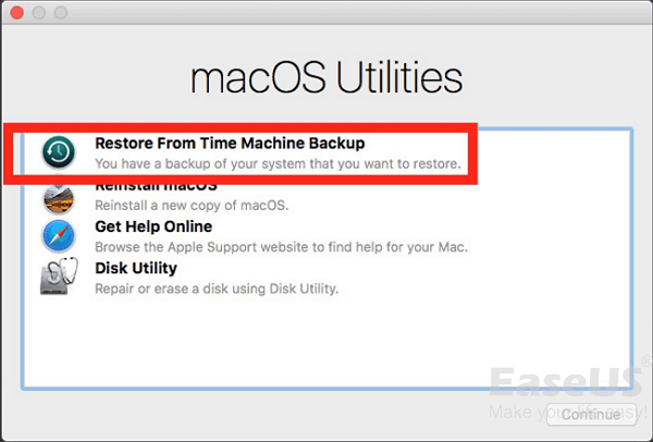 Downgrade Mac OS.