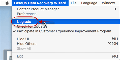 Upgrade EaseUS Data Recovery Wizard for Mac Free to Pro